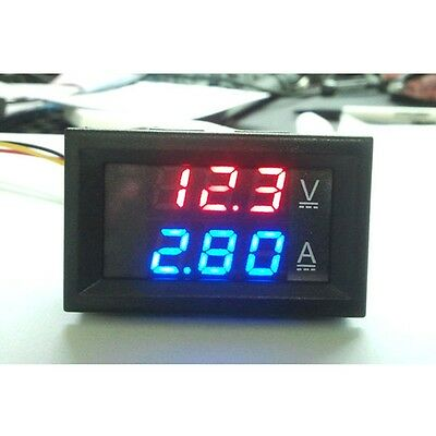 1pcs DC 100V 10A Voltmeter Ammeter Dual Color Display Amp Volt Meter Gauge US