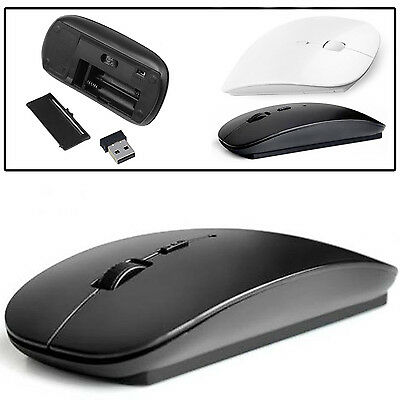 White/black Optical Slim Wireless Mouse Mice With Bluetooth Receiver For Mac Pc