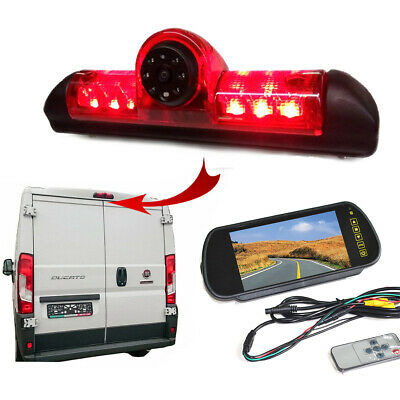 Fiat Ducato Van 2006 -  2018 Reversing Camera Kit With Integrated Brake Light