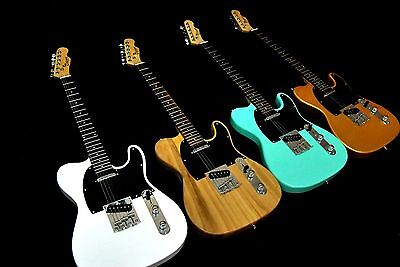 Cozart Telecaster 6 String Electric Guitar Gold White Natural Seafoam Green