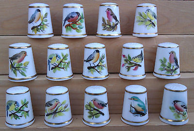 Royal Worcester - Signed Selection Of Bird Design Thimbles.