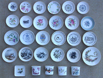 Royal Worcester - Selection Of Pin Dishes, Trinket Dishes, Coasters & Toothpick