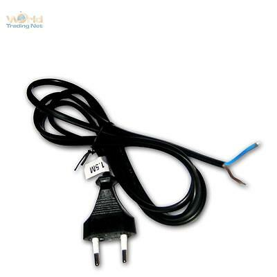 Euro- Electrical cable 4.9ft black Euro plug Power supply
