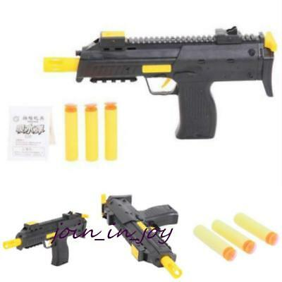 Kids Black Water Bullet Gun 2-in-1 Soft Bullet Gun Pistol Children Toy Guns - LD