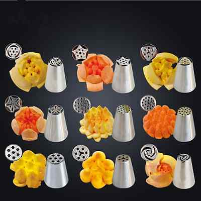 7 Mold Icing Piping Nozzles Tips Cake Sugar Craft Fondant Pastry Decor Supplies