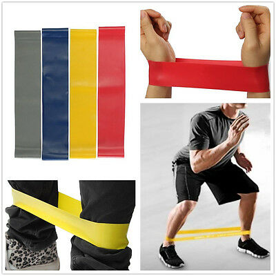 Resistance Loop Gym Fitness Tension Elastic Pilates Yoga Exercise Stretch Bands