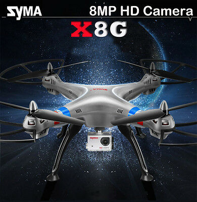 Syma X8G RC Quadcopter 2.4Ghz 4CH 6-axis Gyro Drone with 1080P 8MP HD Camera