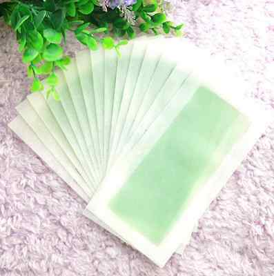 5X Double Side 14x7 cm Hair Removal Cold Wax Strips Paper For Leg Facial Hair