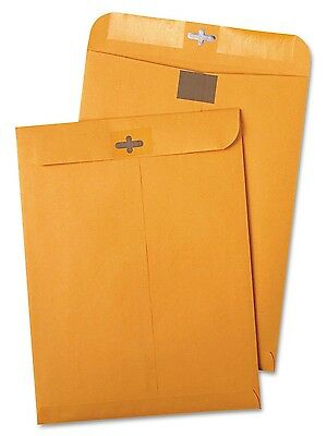 100 CLASP ENVELOPES 9x12 28lb Kraft Shipping Mailing Gummed Business Manila lot