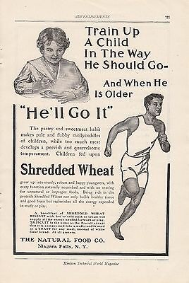 1907 Natural Food Co Niagara Falls NY Ad: Shredded Wheat Biscuit Athlete Runner