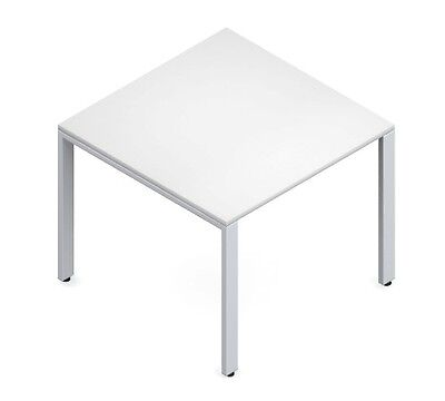 Global PN363629 White Square Office Table
