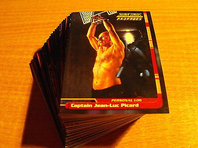 Star Trek The Next Generation Profiles Complete Basic Set Of 82 Cards