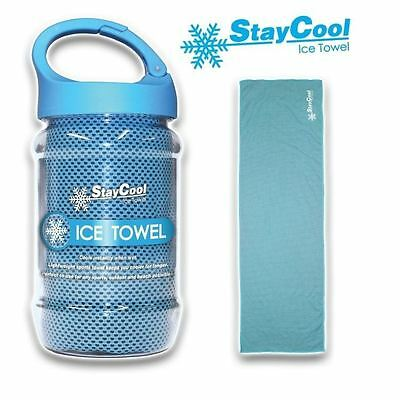 Stay Cool Ice Towel Cooling Effect Small Lightweight Gym Accessory & Carry Case
