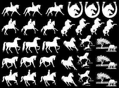 "Horse Rider Horseshoe 5""X7"" Card White Fused Glass Decals 16CC586"