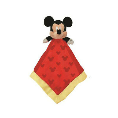 "Mickey Mouse soft plush blankie / comforter 13""/33cm SQUARE - DISNEY BABY - NEW"