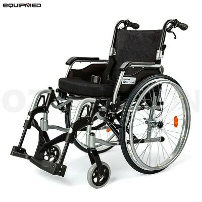 "eQuipmed 24"" Tyres Folding Wheelchair Deluxe Series"