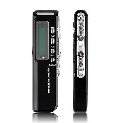 Mini 8GB Digital Audio Voice Recorder USB Rechargeable Dictaphone MP3 Player SS