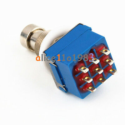 10PCS 9-Pin 3PDT Guitar Effects Pedal Box Stomp Foot True Bypass Metal Switch AL