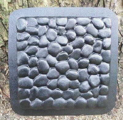 """cobblestone heavy duty abs plastic stepping stone mold mould 12"""" x 1.25"""" thick"""