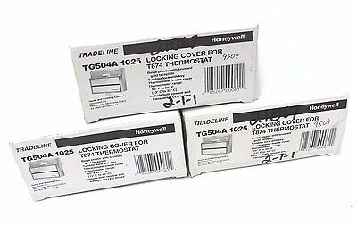 Lot Of 3 Nib Honeywell Tg504A 1025 Locking Cover For T874 Thermostat Bg.w/gd Fp