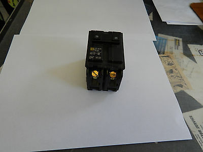 Square D Double Pole 25 Amp Circuit Breaker, HOM225, New, Never Been Used