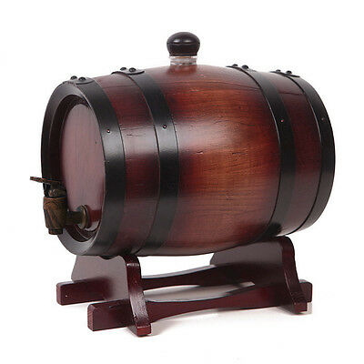 Oak Barrel Wooden Wine Barrel Whiskey Port Container Rum Brewing Keg 0.75L