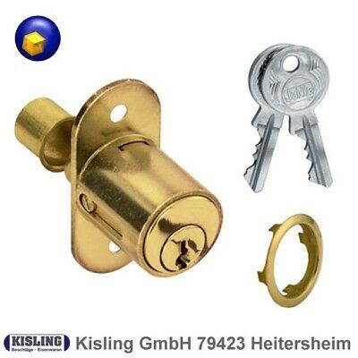 junieschiebetuerschloss Pressure cylinder 2960 Brass and matt nickel-plated z