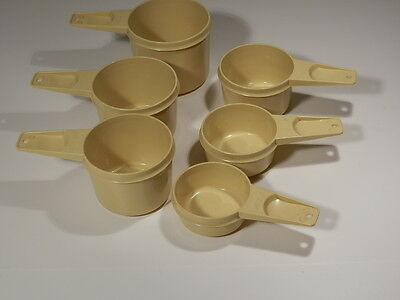 Tupperware Yellow Meauring Cups Full Set Of 6 Nice