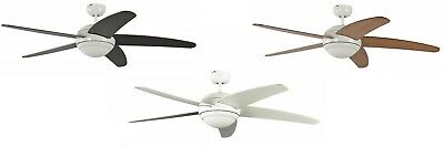 Ceiling Fan Melton White 132 cm incl. Remote Control - Wing Colour Selectable