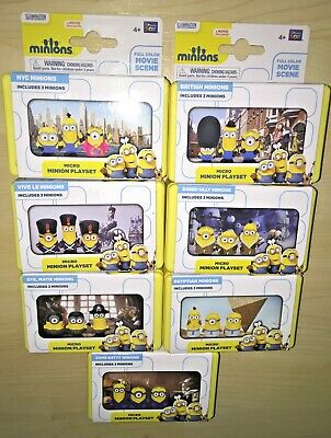 Micro Minions Playset Movie Scene Toy Figures Despicable Me Minion