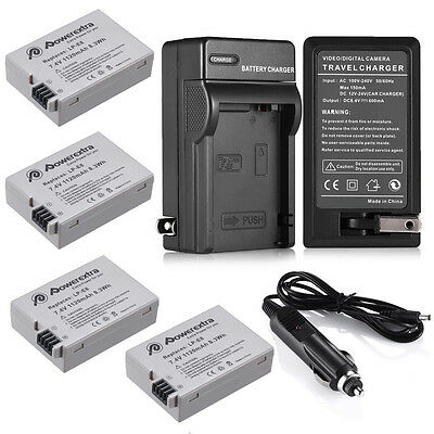 LP-E8 Battery Pack + Charger for Canon EOS 700D 650D 600D Rebel T2i T3i T4i T5i