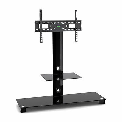 Glass TV Stand with TV Bracket for Plasma LCD TV Black