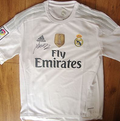 James Rodriguez Hand Signed Real Madrid Shirt Bnwt Adult Extra Large