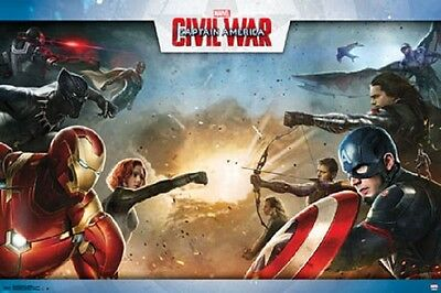 CAPTAIN AMERICA CIVIL WAR POSTER Shrink Wrapped, size 22x34