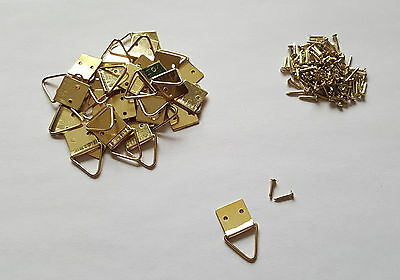 Hook 10x Gold Effect Picture Image Frame Double Hole Mirrors (FREE Nail Set)
