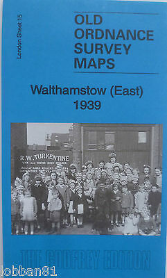 Old Ordnance Survey Detailed Maps Walthamstow East London 1939 Sheet 15 New