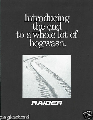 Snowmobile Brochure - Raider - 34TT 44TT - 1973 (SN06)