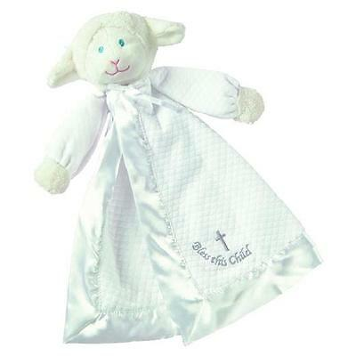 Baby Infant Christening/Baptism Gift~Lamb Cross Lovey/Security Blanket
