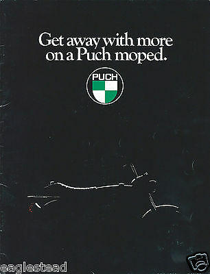 Moped Brochure - Puch - Product Line Overview - c1981  (DC433)