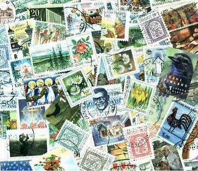 Finland Stamp Collection - 100 Different Stamps