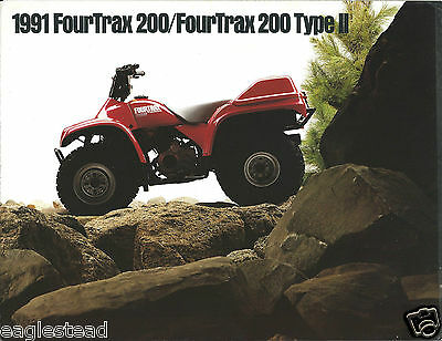 ATV Brochure - Honda - FourTrax 200 Type II - 1991  (V30)