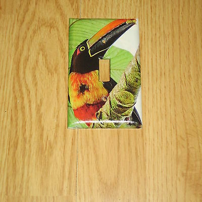 Fiery-Billed Aracari Tropical Wild Bird Light Switch Cover Plate