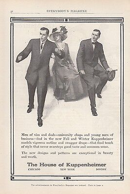 1909 House of Kuppenheimer New York NY Ad: New Designs & Patterns Men's Suits