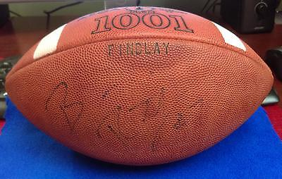 Scarce Ben Roethlisberger Findlay Game Used & Autographed High School Football