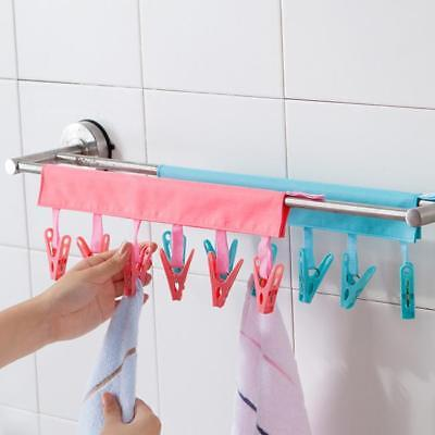 Novelty New Bathroom Rack Clothespin Travel Folding Clothes Cloth Hanger Clips S