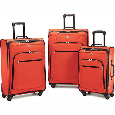 American Tourister Pop Plus 3 Piece Nested Spinner Luggage Set (Orange) - 64590-