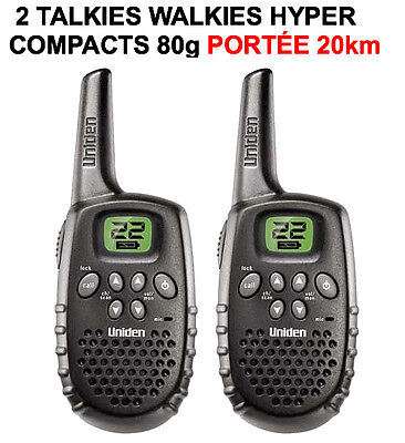 2 Talkie Walkie Vhf Uhf Portee 20Km! Qualite Marine 22 Canaux! Legers Solides