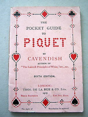 Piquet Rules Of By Cavendish Late Issue Dated 1919 Gilded Playing Cards Antique