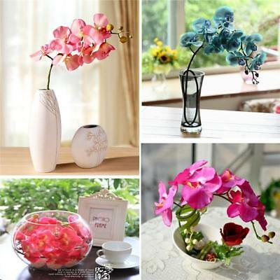 Pop Artificial Simulation Butterfly Orchid Flower Plant Home Cafe Decoration LG