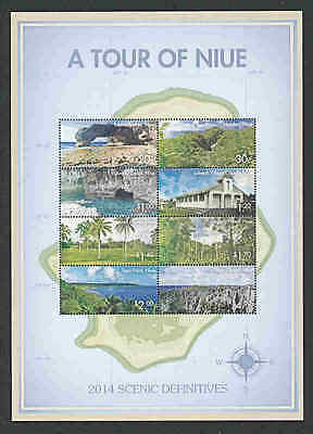 NIUE   2015  TOUR  SCENIC  DEFINITIVES  SHEET of 8  MNH
